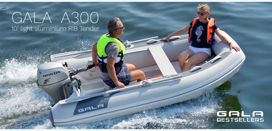 GALA Atlantis A300 - Best selling light 10' aluminium RIB tender