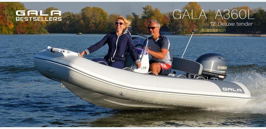 GALA Atlantis A360L - best selling luxury RIB tender!