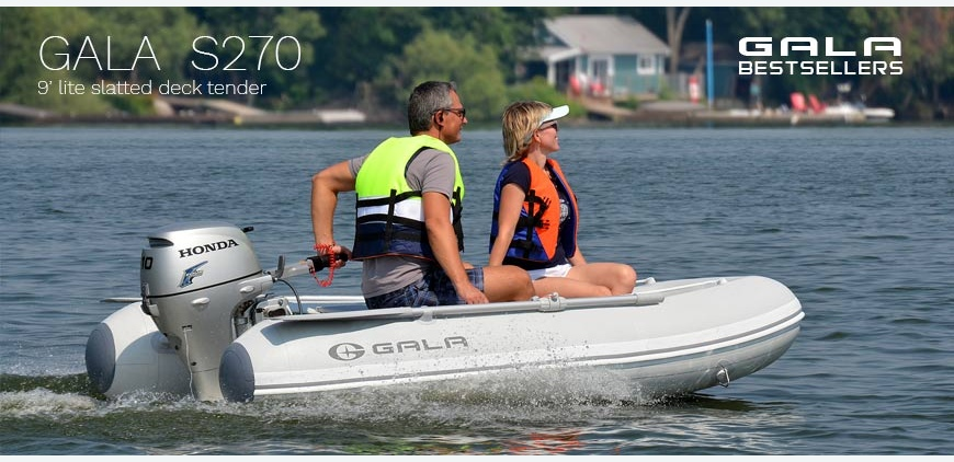 GALA S270 - Light, roomy and affordable yacht dinghy!
